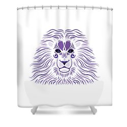 Yoni The Lion - Light Shower Curtain