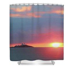 York Harbor At Dawn Shower Curtain by Lori Deiter