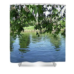 York River Ouse Shower Curtain by Neil Finnemore
