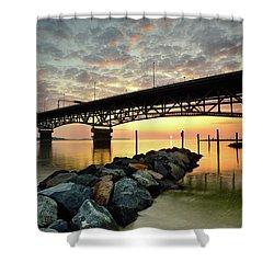 York River Sunrise Shower Curtain