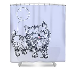 Yorkie Shower Curtain