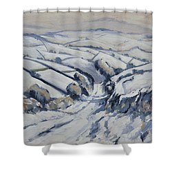 Yorkshire In The Snow Shower Curtain