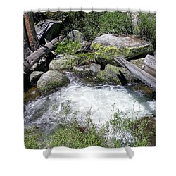 Yosemite Whitewater Shower Curtain