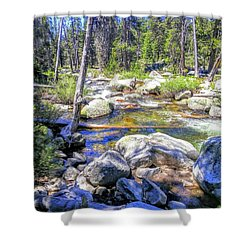 Yosemite Boulder Stream Shower Curtain