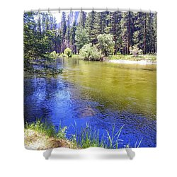 Yosemite River Shower Curtain