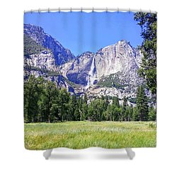 Yosemite Valley Waterfall Shower Curtain