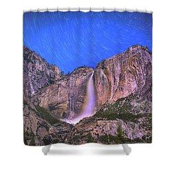 Yosemite At Night Shower Curtain