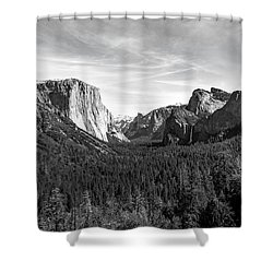 Yosemite B/w Shower Curtain