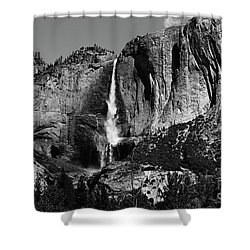 Yosemite Black Falls  Shower Curtain