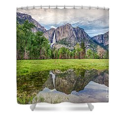 Yosemite Falls And Reflections 2 Shower Curtain