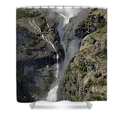 Yosemite Falls From The Four Mile Trail Shower Curtain
