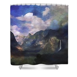 Yosemite H2o Color Shower Curtain