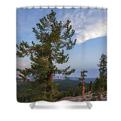 Half Dome From May Lake Shower Curtain