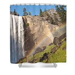Yosemite Mist Trail Rainbow Shower Curtain