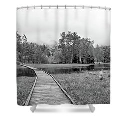 Yosemite Monochrome Shower Curtain
