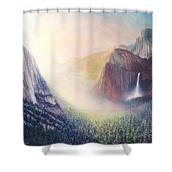 Yosemite Morning Shower Curtain by Douglas Castleman