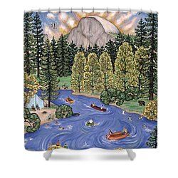 Yosemite National Park Shower Curtain by Linda Mears