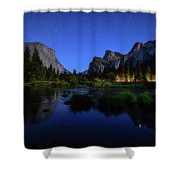 Yosemite Nights Shower Curtain