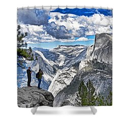 Yosemite Overlook Shower Curtain by Dennis Cox WorldViews