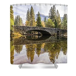 Yosemite Reflections Shower Curtain by Alpha Wanderlust
