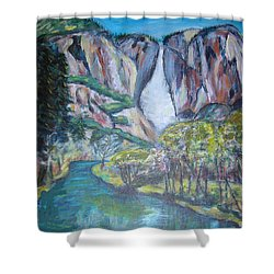 Yosemite Reflections Shower Curtain by Carolyn Donnell
