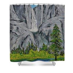 Yosemite Upper Falls Shower Curtain