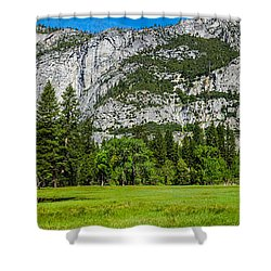 Yosemite Valley Meadow Panorama Shower Curtain