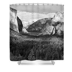 Yosemite Valley Shower Curtain by Sandra Bronstein