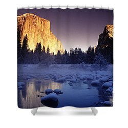 Yosemite Valley Sunset Shower Curtain by Michael Howell - Printscapes