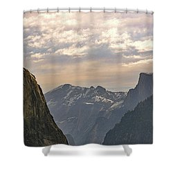 Yosemite Valley - Tunnel View Shower Curtain