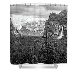 Yosemite View 38 Shower Curtain by Ryan Weddle