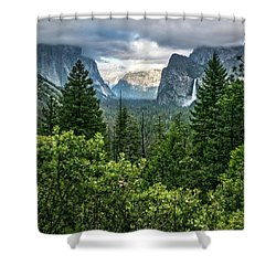 Last Light For Tunnel View Shower Curtain by Ryan Weddle