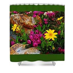 Yosemite Wildflowers Shower Curtain