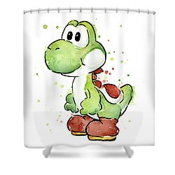 Yoshi Watercolor Shower Curtain