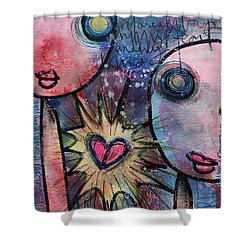 Shower Curtain featuring the painting You Are Always In My Heart  by Laurie Maves ART
