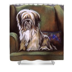 You Are In My Spot Again Shower Curtain by Barbara Keith