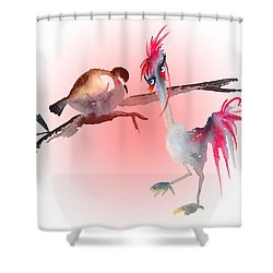 You Are Just My Type Shower Curtain by Miki De Goodaboom