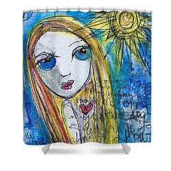 You Are My Sunshine  Shower Curtain by Laurie Maves ART