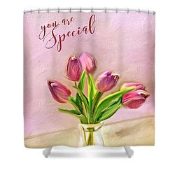 Shower Curtain featuring the photograph You Are Special by Mary Timman