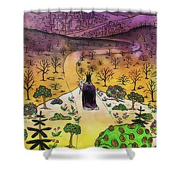 Shower Curtain featuring the painting You Are The Message by Nathan Rhoads
