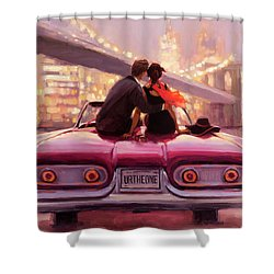Shower Curtain featuring the painting You Are The One by Steve Henderson