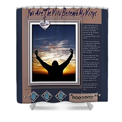 Shower Curtain featuring the digital art You Are The Wind Beneath My Wings by Kathy Tarochione