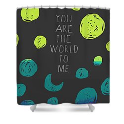 Shower Curtain featuring the painting You Are The World by Lisa Weedn