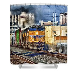 Shower Curtain featuring the photograph You Can Go Your Own Way by Michael Rogers