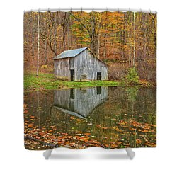 You Cannot Dream Yourself Into Character. You Must Hammer And Forge Yourself Into One.  Shower Curtain