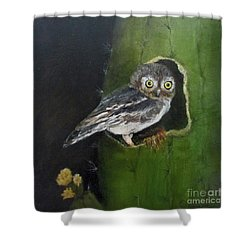 You Caught Me Shower Curtain by Roseann Gilmore