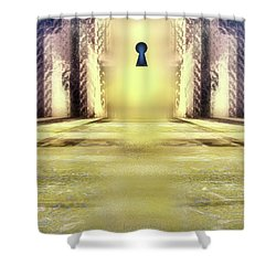 You Hold The Key Shower Curtain by Another Dimension Art