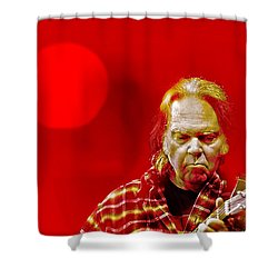 You Keep Me Searching Shower Curtain by Mal Bray