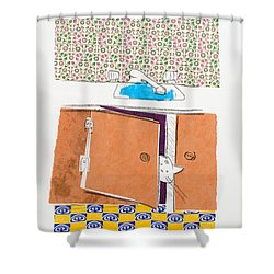 You Looking For Me Shower Curtain by Leela Payne