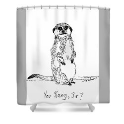 You Rang, Sir? Shower Curtain